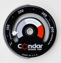 brændeovnstermometer, termometer til brændeovn, termometer til Ecofan,