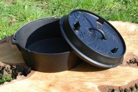 Støbejernsgryde med flad bund 4,5 liter – Dutch Oven ft 4.5